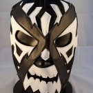DR X BLACK WHITE ADULT SIZE MEXICAN WRESTLING MASK