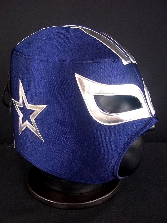 NFL UNOFFICIAL COWBOYS DALLAS STYLE MASK PRO FIT MEXICAN WRESTLING MASK LUCHA LIBRE HALLOWEEN