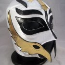 REY MISTERIO WHITE ADULT SIZE MEXICAN WRESTLING MASK