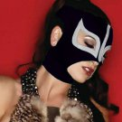 BLACK SEXY LADY MASK!! WOMEN WOMAN LADIES PRO FIT MEXICAN WRESTLING MASK LUCHA LIBRE HALLOWEEN