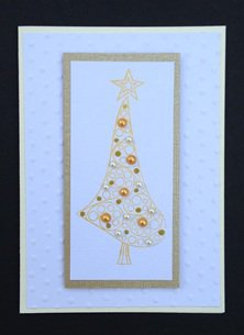 Paper Therapy White & Gold Christmas Tree
