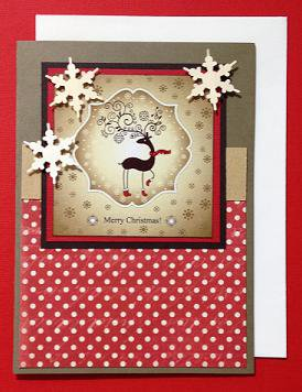 Paper Therapy Reindeer in Boots tall