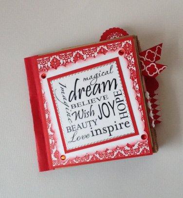Paper Therapy Red & White-Dream Mini Scrapbook
