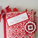 Paper Therapy Red & White Mini Scrapebook