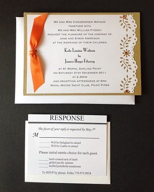 Paper Therapy | Flat Double Layered | Invitation| Side Ribbon