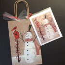 Christmas gift bag w greeting card-snowman design | Paper Therapy