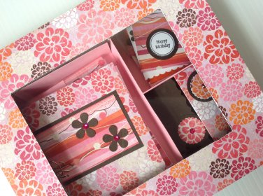 Custom Stationary Set w Greeting Cards-Flat Pink | Paper Therapy