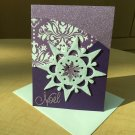 Christmas Card | Purple Snowflake | Paper Therapy