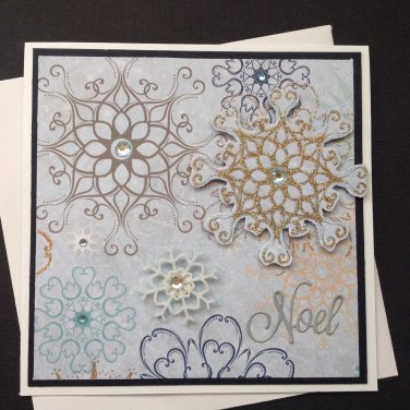 Christms Card |  Snowflakes | Paper Therapy