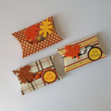 Fall Pillow Box | Candy Treats | Paper Therapy