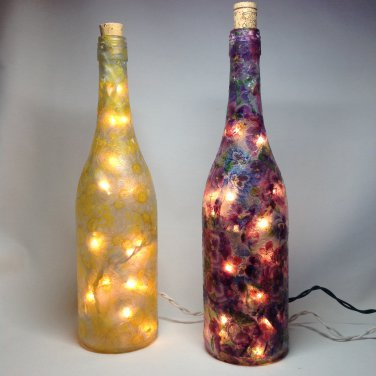 Wine Bottle Light | Paper Therapy