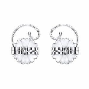 Levears Sterling Silver Pierced Ear Lobe Earrings backs Lift Support Post / Stud