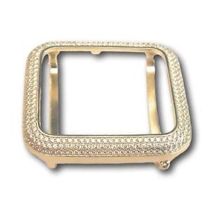 Apple Watch Bezel Case Mens Ladies 14K Yellow Gold Plated Lab Diamonds 38mm
