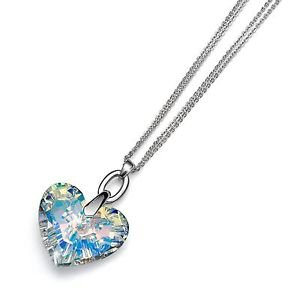 Swarovski Crystal Heart Silver Double Chain Necklace Eternal Oliver Weber