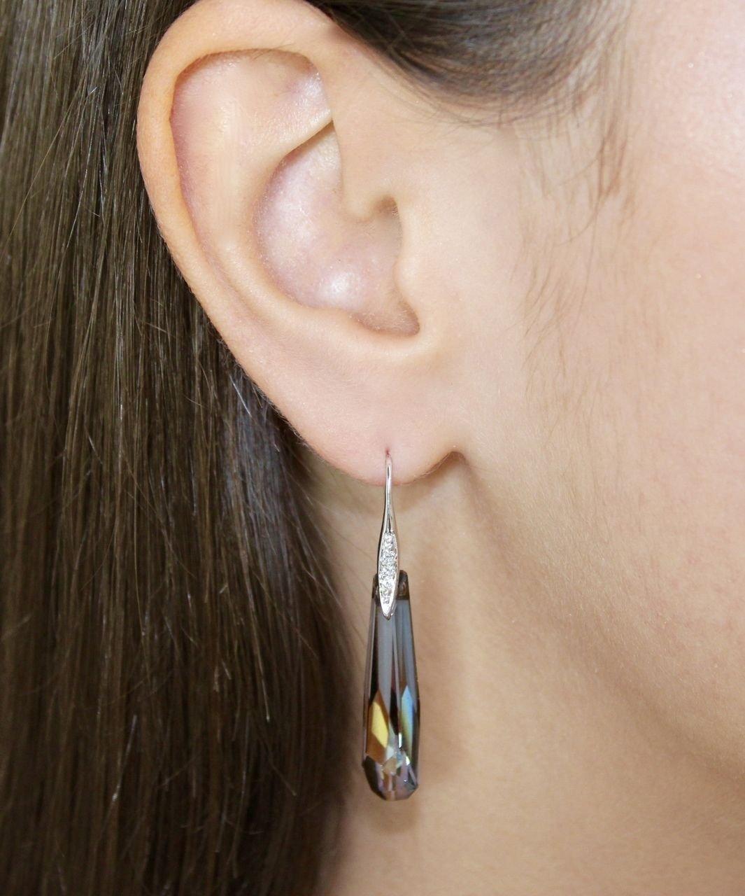 Bronze Swarovski Elements Dangle Hook Earrings Oliver Weber Stala 22377