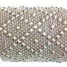 SG Liquid Metal Bracelet Silver Wide Mesh Cuff Sergio Gutierrez B26 / ALL SIZES