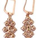 SG Liquid Metal Small Oval 24K Rose Gold Mesh Earrings E32 by Sergio Gutierrez
