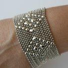 SG Liquid Metal Silver Mesh Cuff Bracelet by Sergio Gutierrez TB32 / All SIZES