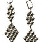 SG Liquid Metal Chandelier Silver Mesh Earrings by Sergio Gutierrez E16
