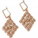 SG Liquid Metal 24K Rose Gold Mesh Earrings Diamond Style E15  Sergio Gutierrez