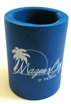 St Thomas Virgin Islands Magens Bay Blue Can Koozie