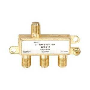 Steren 200-213 3-Way Cable/TV/DVD/VCR Coaxial Splitter