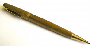 Vintage Brushed Gold Colored Rocket Mechanical Pencil
