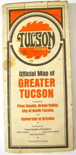 Greater Tucson Arizona Street Map 1970 (Champion/Chamber of Commerce)