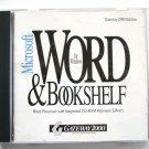 Microsoft Word for Windows & Bookshelf (1992) CD-ROM