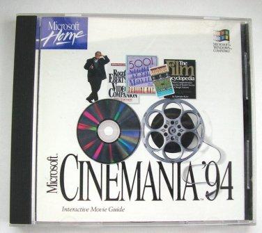 Microsoft Cinemania '94 Interactive Movie Guide v1994 (1993) CD-ROM