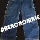 Abercrombie and Fitch Cargo Womens Juniors Blue Jeans with Drawstring - M