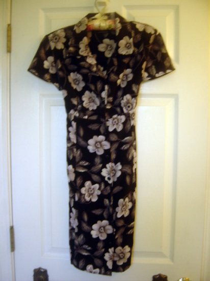UM & Company Womens Floral Summer Dress w/ Tie - GORGEOUS! 7/8