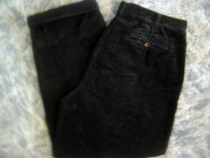 Croft & Barrow Mens Pleated Cuff Black Corduroy 38x30