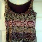 Charlotte Russe Beads Women Juniors Hippie Floral Tank