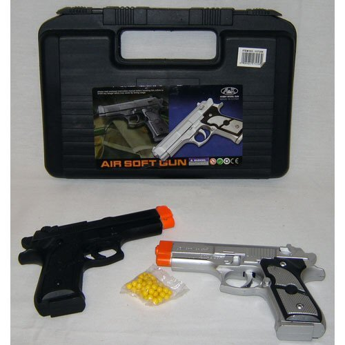 Black and Silver Airsoft Combo Pack w/ Carrying Case