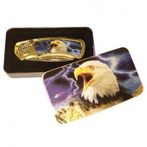 Eagle Knife in Metal Tin