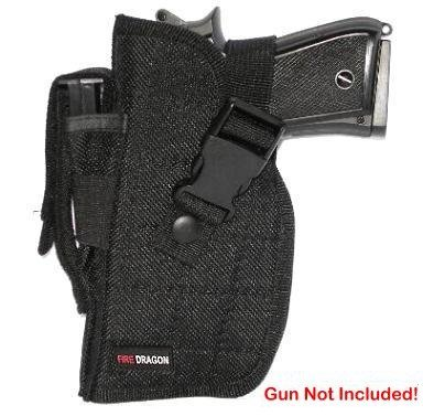 Black Airsoft Gun Holster - Left Side