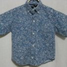 Boy's Bon Homme Blue Patterned Dress Shirt - Size 4T