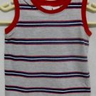Boy&#39;s Gray with Blue and Red Stripes Tank Top - Size 24 months
