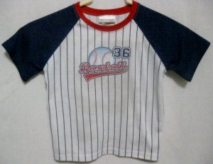 "Boy's Carters ""Baseball"" Pajamas Shirt - Size 4T"
