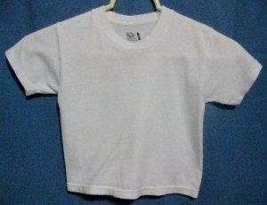Boy's White Tee - Size 4T