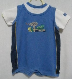 "Boy's Healthtex ""To the Pond"" Romper - Size 24 months"