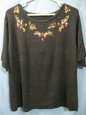 Women's Embroidered Sweater - Size 2X