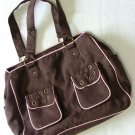 Brown and Pink Diaper Bag by Pitter Patter