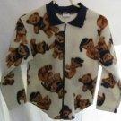Girl's Pogo Club of NY Teddy Bear Sweater/Jacket - Size 10