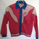 Girl's Pink and Blue Jacket - Size 7