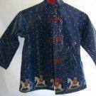 "Girl's Blue ""Rocking Horse"" Rain Coat -  Size 7"