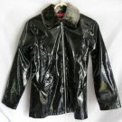 Girl's Black Sparkled Rain Coat - Size 14/16