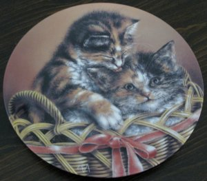 Cody & Courtney Cat Plate by The Bradford Exchange