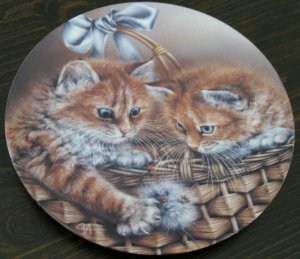 Justin & Jessica Cat Plate by The Bradford Exchange